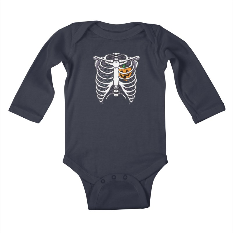 Halloween in my heart - white Kids Baby Longsleeve Bodysuit by Manning Krull's Artist Shop