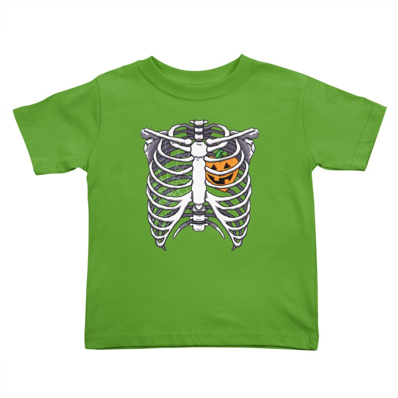 Halloween in my heart - white Kids Toddler T-Shirt by Manning Krull's Artist Shop
