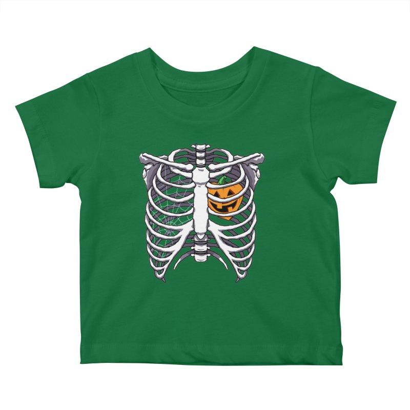 Halloween in my heart - white Kids Baby T-Shirt by Manning Krull's Artist Shop