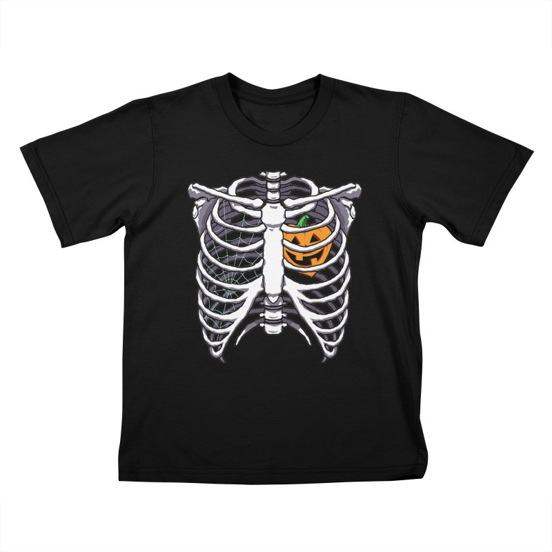 Halloween in my heart - white Kids T-Shirt by Manning Krull's Artist Shop