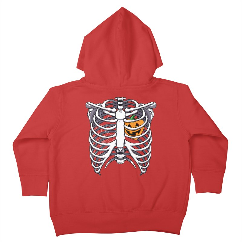 Halloween in my heart - white Kids Toddler Zip-Up Hoody by Manning Krull's Artist Shop