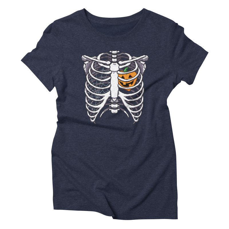 Halloween in my heart - white Women's T-Shirt by Manning Krull's Artist Shop