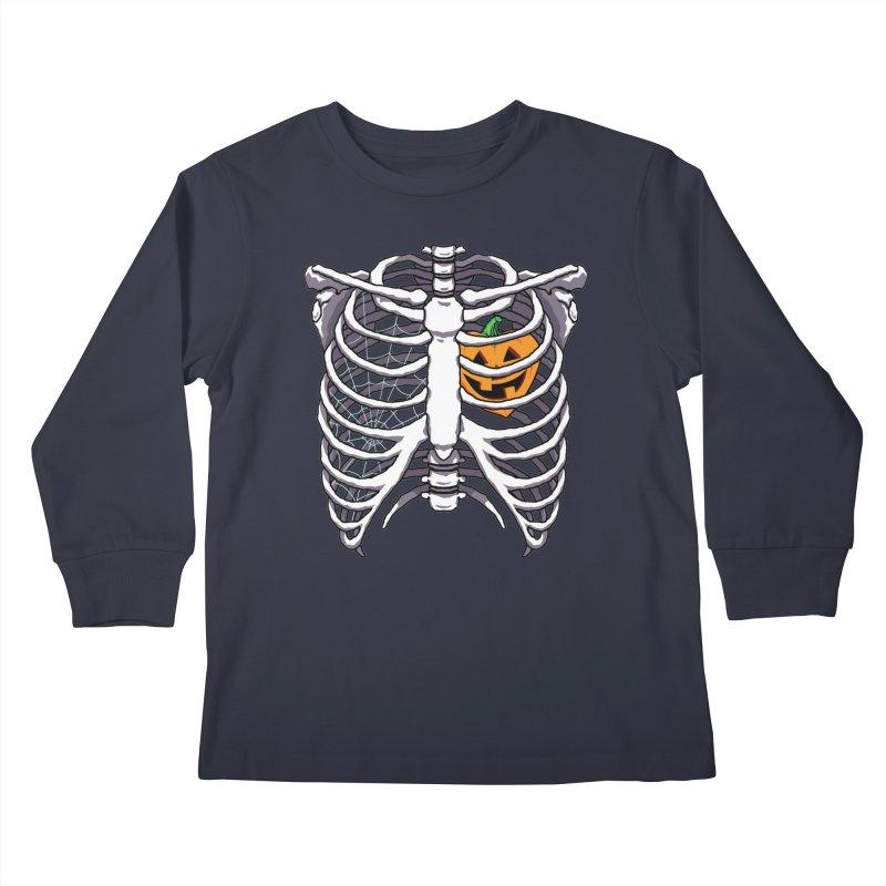 Halloween in my heart - white Kids Longsleeve T-Shirt by Manning Krull's Artist Shop