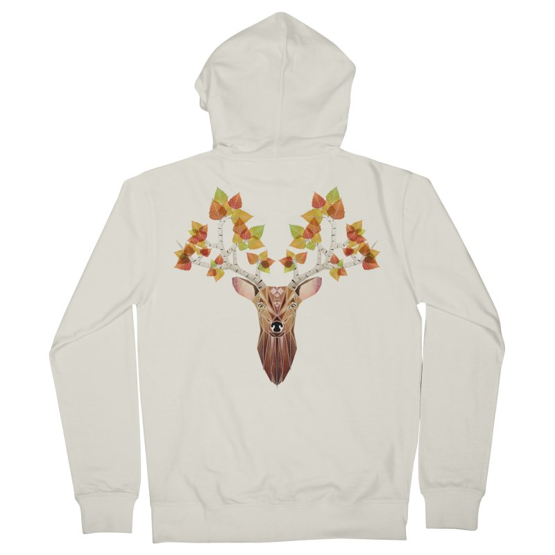 deer autumn Women's Zip-Up Hoody by manoou's Artist Shop