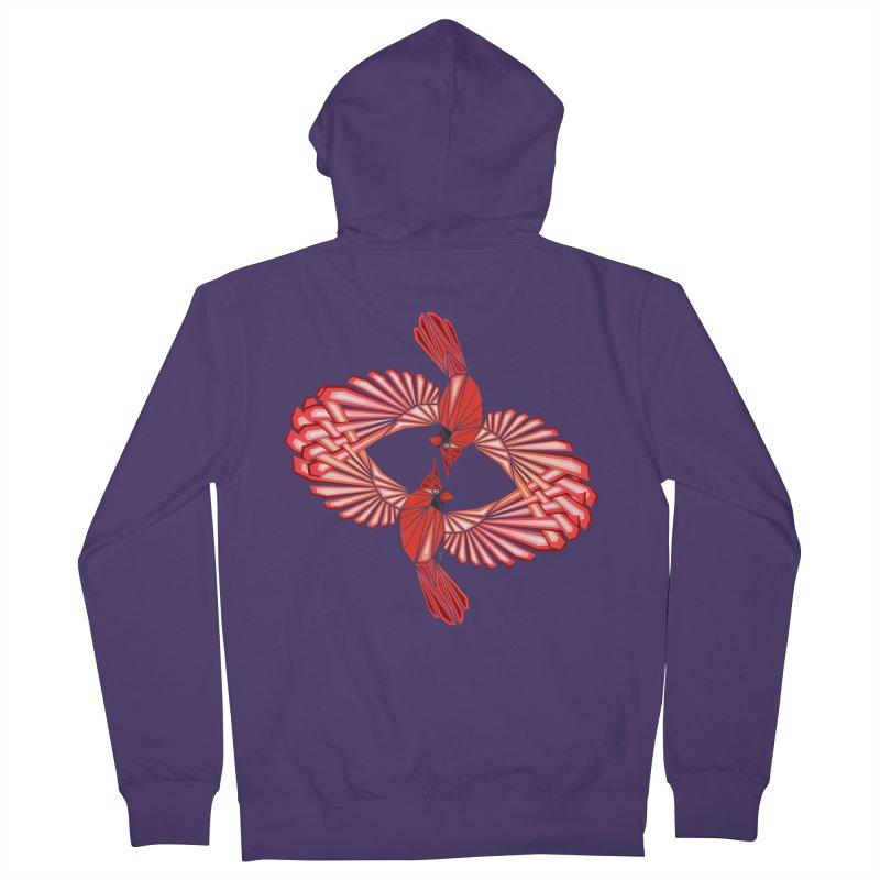 cardinal Women's Zip-Up Hoody by manoou's Artist Shop