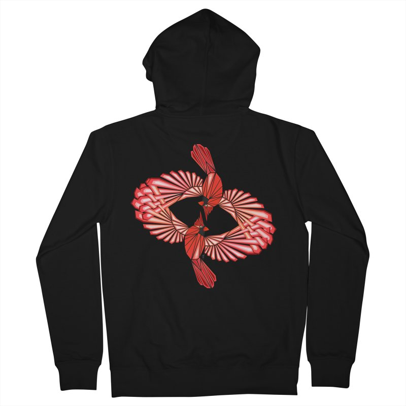 cardinal Men's Zip-Up Hoody by manoou's Artist Shop