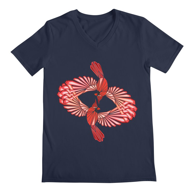cardinal Men's V-Neck by manoou's Artist Shop