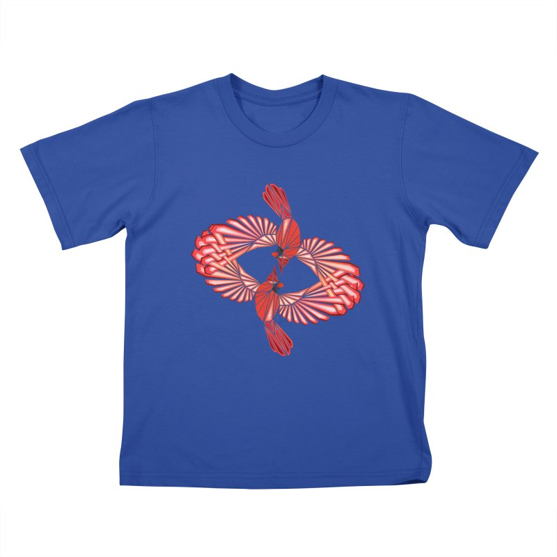 cardinal Kids T-Shirt by manoou's Artist Shop