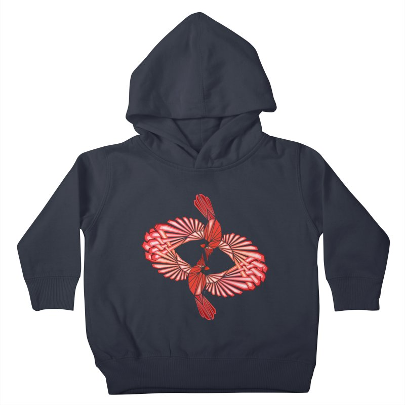 cardinal Kids Toddler Pullover Hoody by manoou's Artist Shop