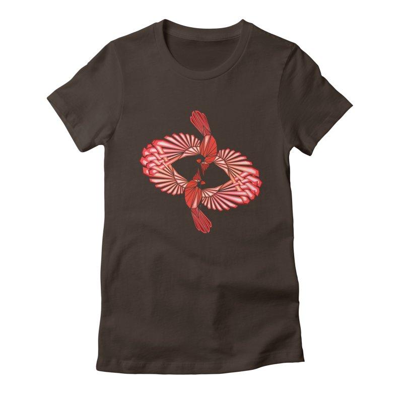 cardinal Women's Fitted T-Shirt by manoou's Artist Shop