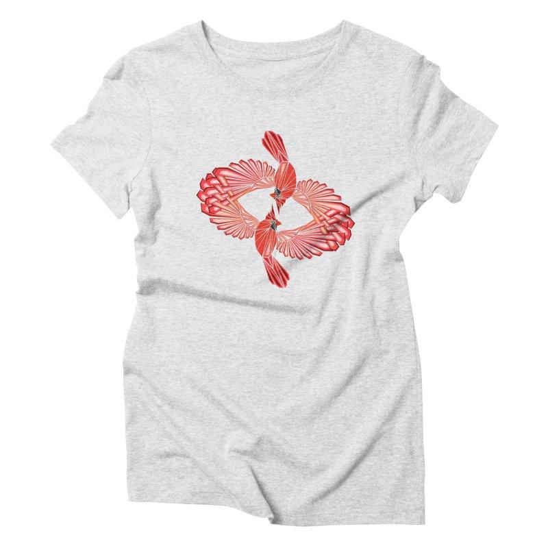 cardinal Women's Triblend T-Shirt by manoou's Artist Shop