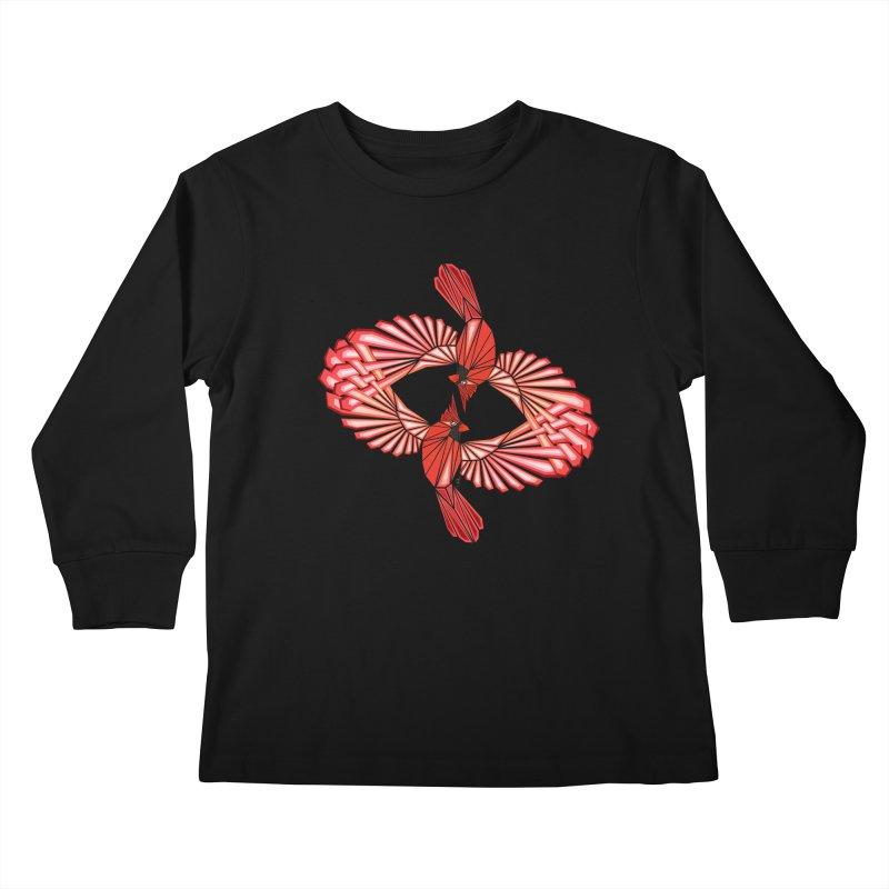 cardinal Kids Longsleeve T-Shirt by manoou's Artist Shop