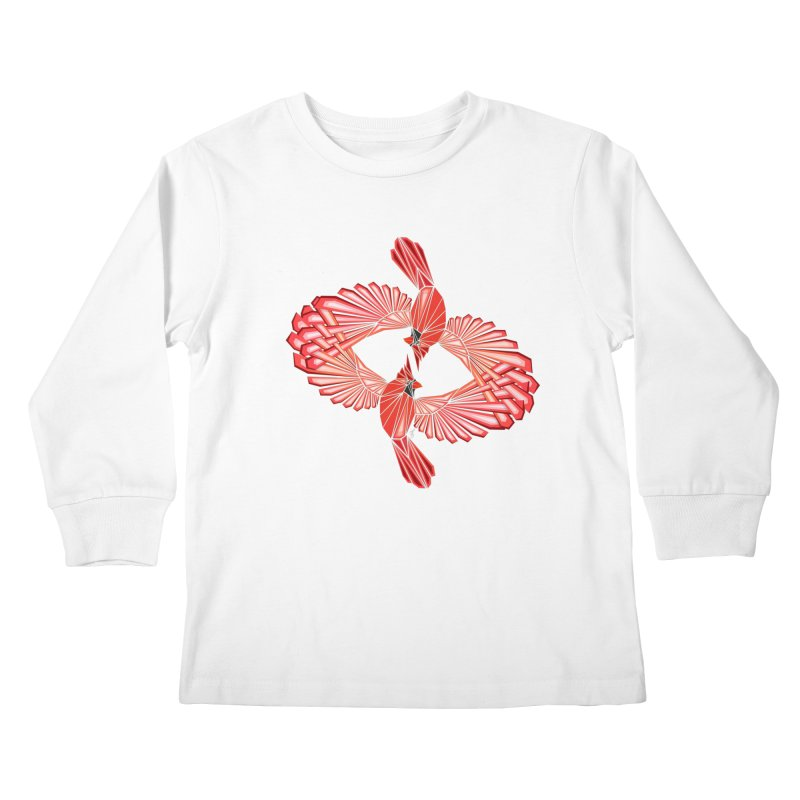 cardinal Kids Longsleeve T-Shirt by manoou's Artist Shop