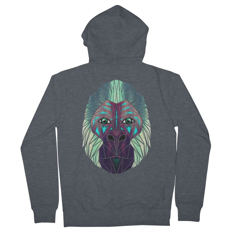 gorilla Women's Zip-Up Hoody by manoou's Artist Shop