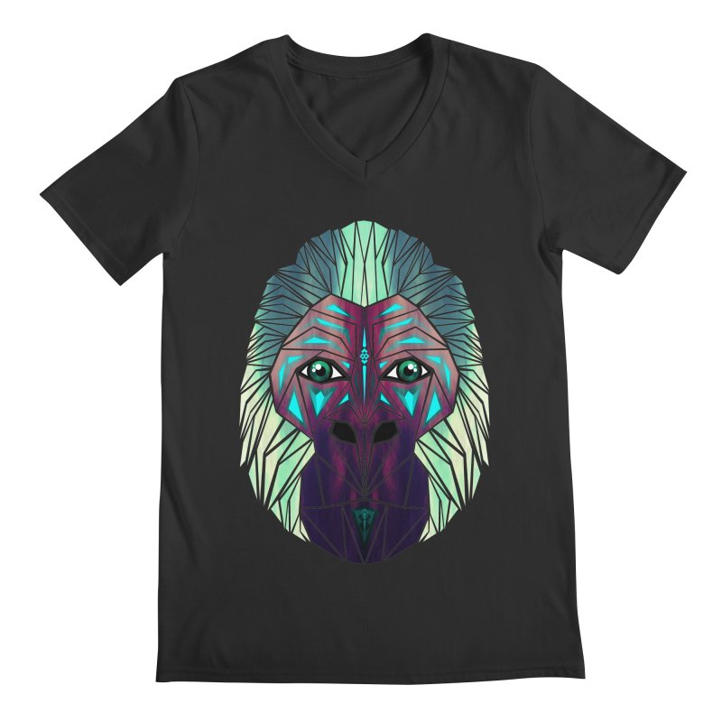 gorilla Men's V-Neck by manoou's Artist Shop