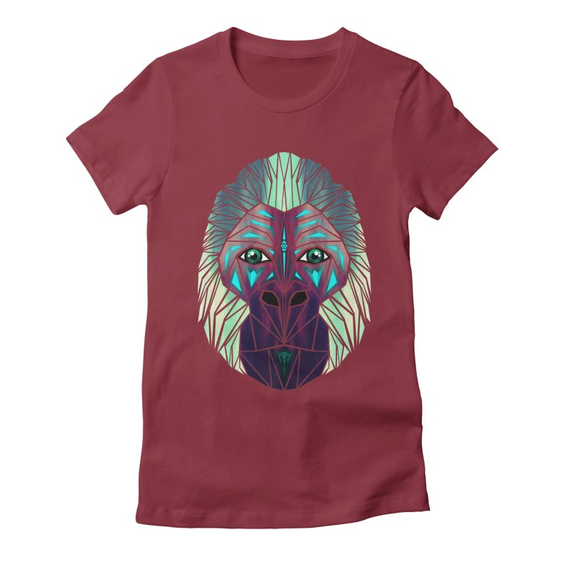 gorilla Women's Fitted T-Shirt by manoou's Artist Shop