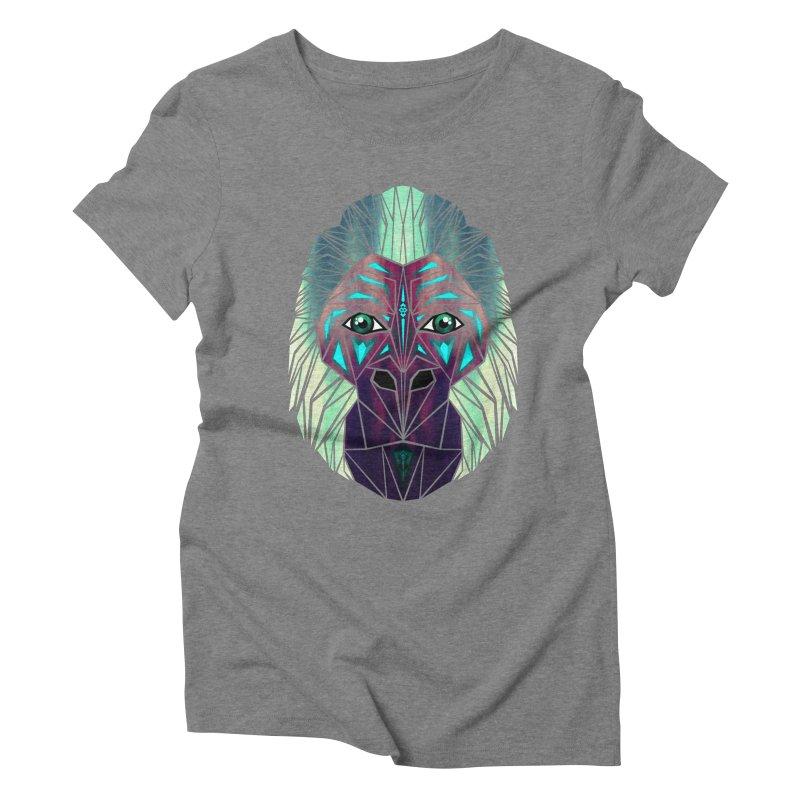 gorilla Women's Triblend T-Shirt by manoou's Artist Shop