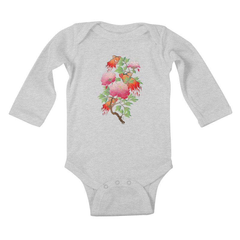 goldfish Kids Baby Longsleeve Bodysuit by manoou's Artist Shop
