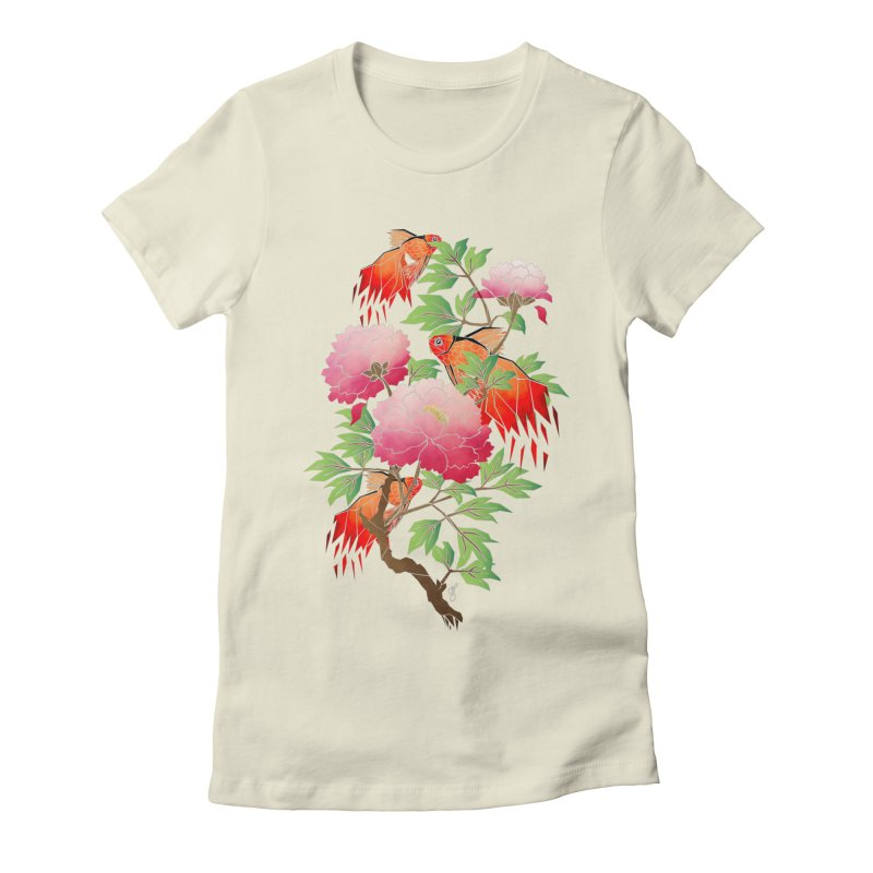 goldfish Women's Fitted T-Shirt by manoou's Artist Shop