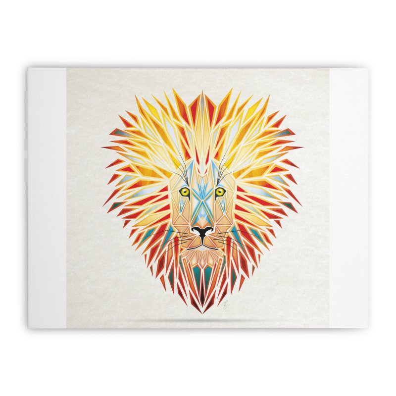 lion king Home Stretched Canvas by manoou's Artist Shop