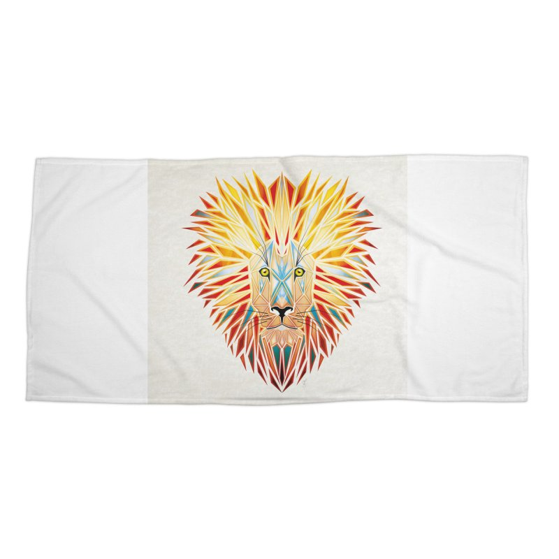 lion king Accessories Beach Towel by manoou's Artist Shop