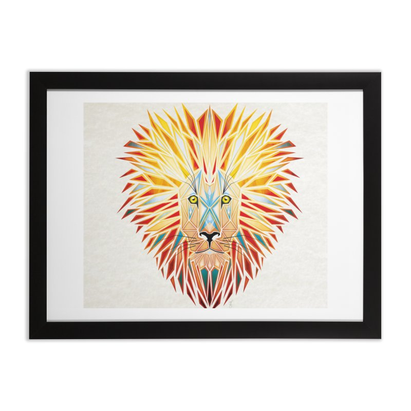 lion king Home Framed Fine Art Print by manoou's Artist Shop