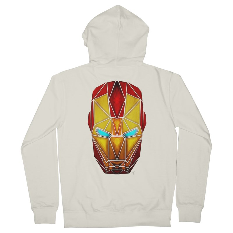 iron man Women's Zip-Up Hoody by manoou's Artist Shop