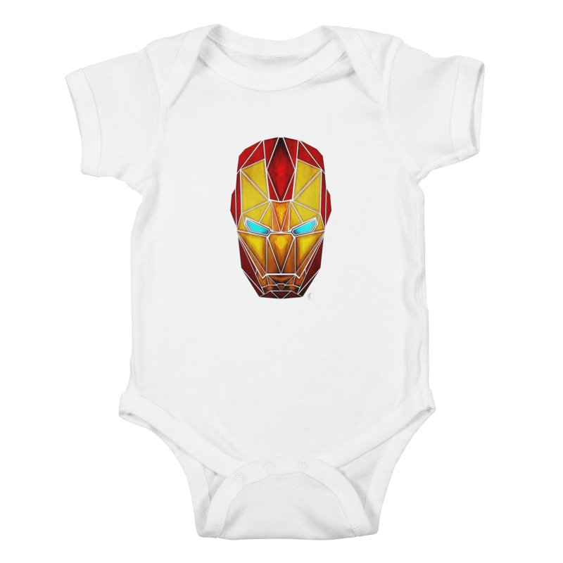 iron man Kids Baby Bodysuit by manoou's Artist Shop