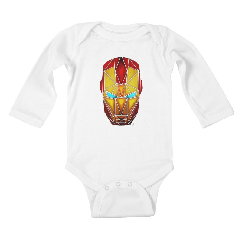 iron man Kids Baby Longsleeve Bodysuit by manoou's Artist Shop