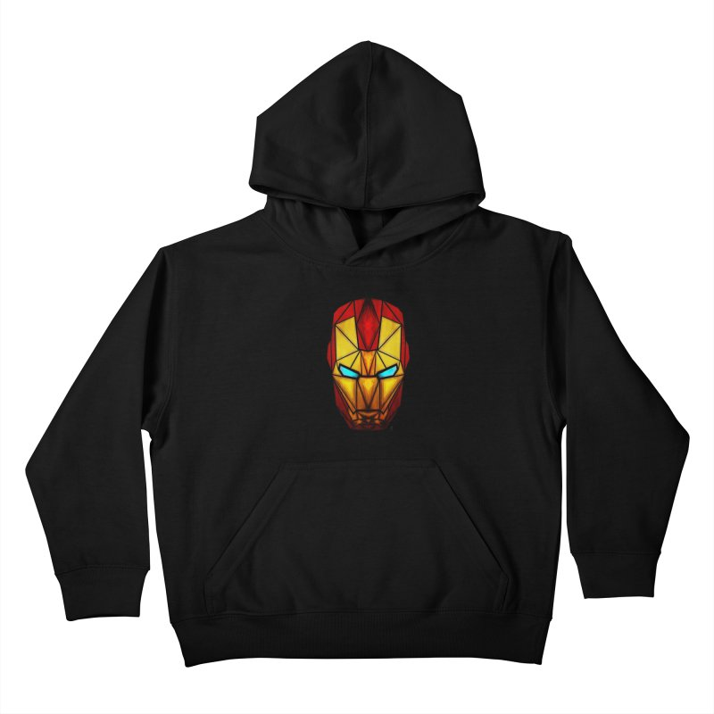 iron man Kids Pullover Hoody by manoou's Artist Shop