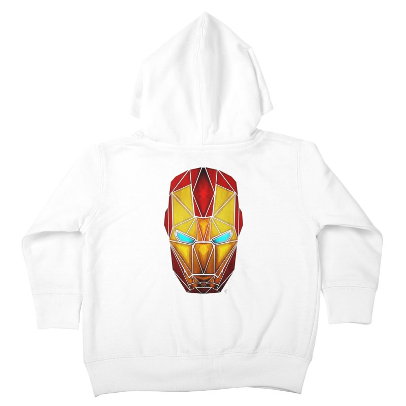 iron man Kids Toddler Zip-Up Hoody by manoou's Artist Shop