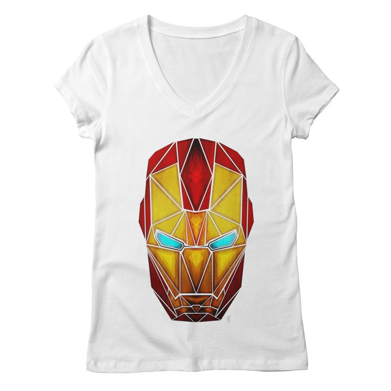 iron man Women's V-Neck by manoou's Artist Shop