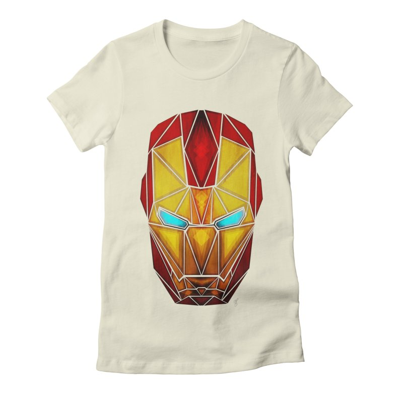iron man Women's Fitted T-Shirt by manoou's Artist Shop