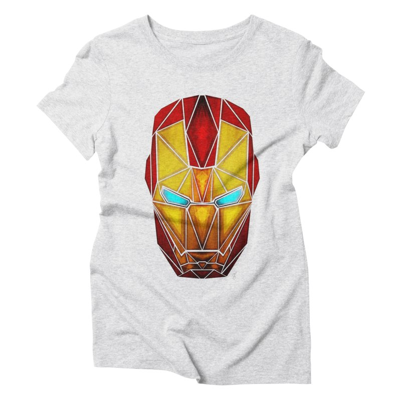 iron man Women's Triblend T-shirt by manoou's Artist Shop