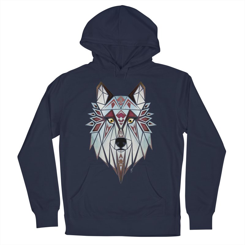 Wild wolf Women's Pullover Hoody by manoou's Artist Shop