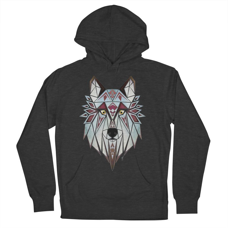 Wild wolf Men's Pullover Hoody by manoou's Artist Shop