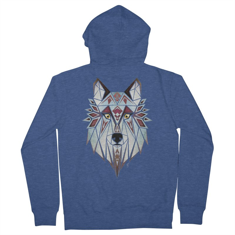 Wild wolf Women's Zip-Up Hoody by manoou's Artist Shop