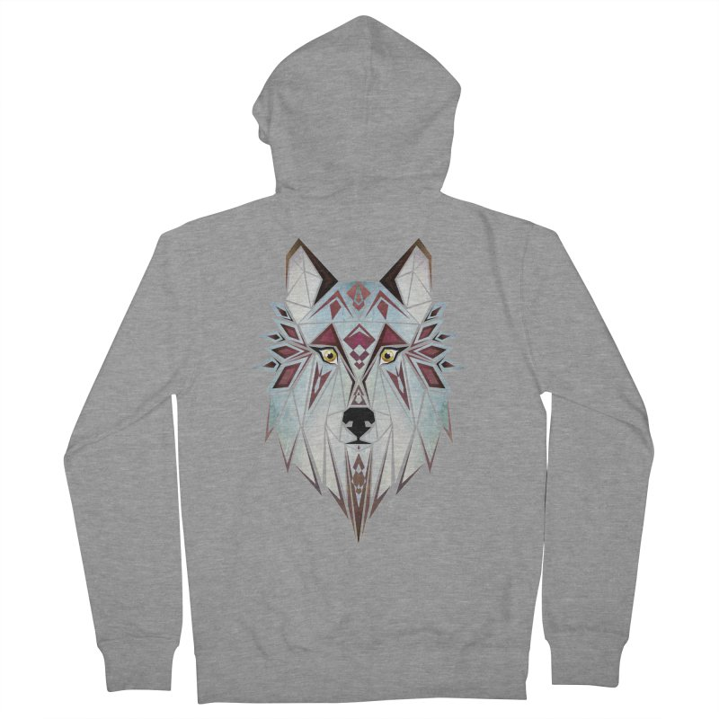 Wild wolf Women's Zip-Up Hoody by manoou's Artist Shop