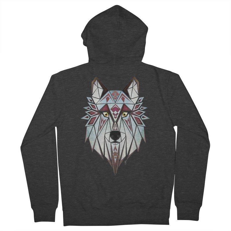 Wild wolf Men's Zip-Up Hoody by manoou's Artist Shop