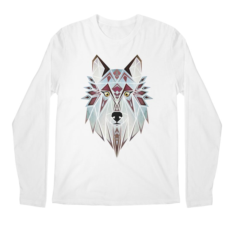 Wild wolf Men's Longsleeve T-Shirt by manoou's Artist Shop