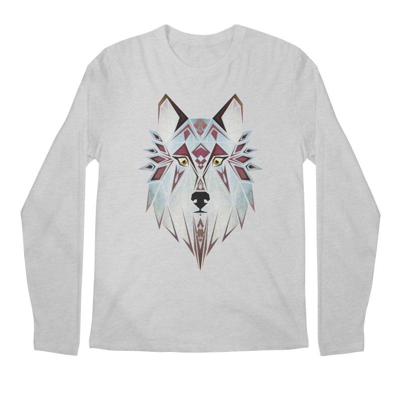 Wild wolf Men's Longsleeve T-Shirt by manoou's Artist Shop