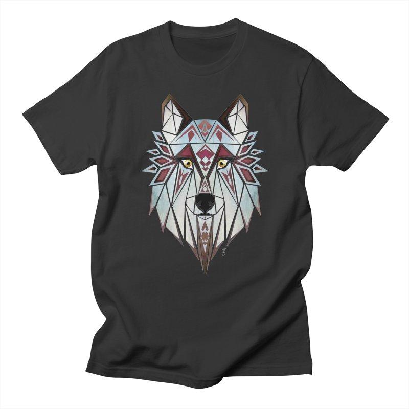 Wild wolf Men's T-Shirt by manoou's Artist Shop