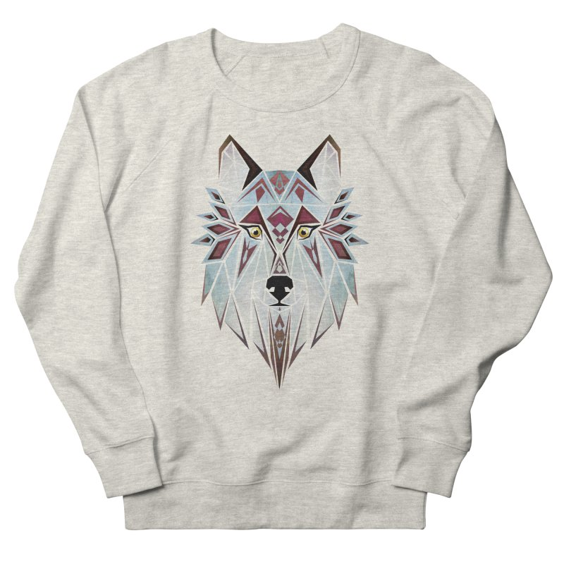 Wild wolf Men's Sweatshirt by manoou's Artist Shop