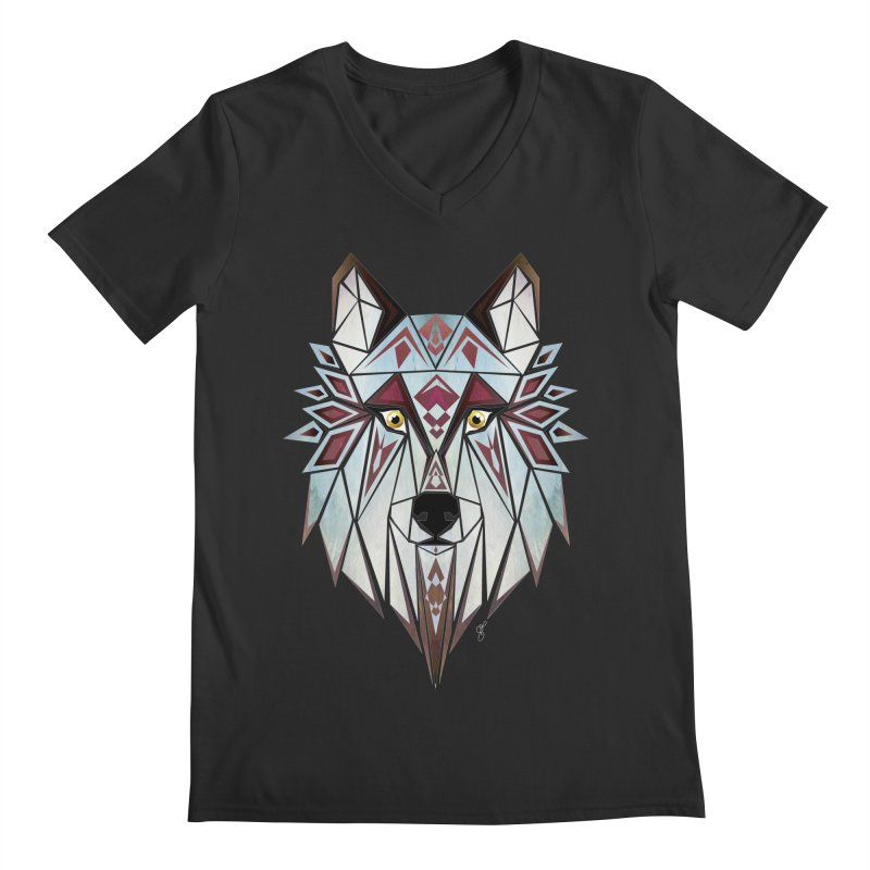 Wild wolf Men's V-Neck by manoou's Artist Shop