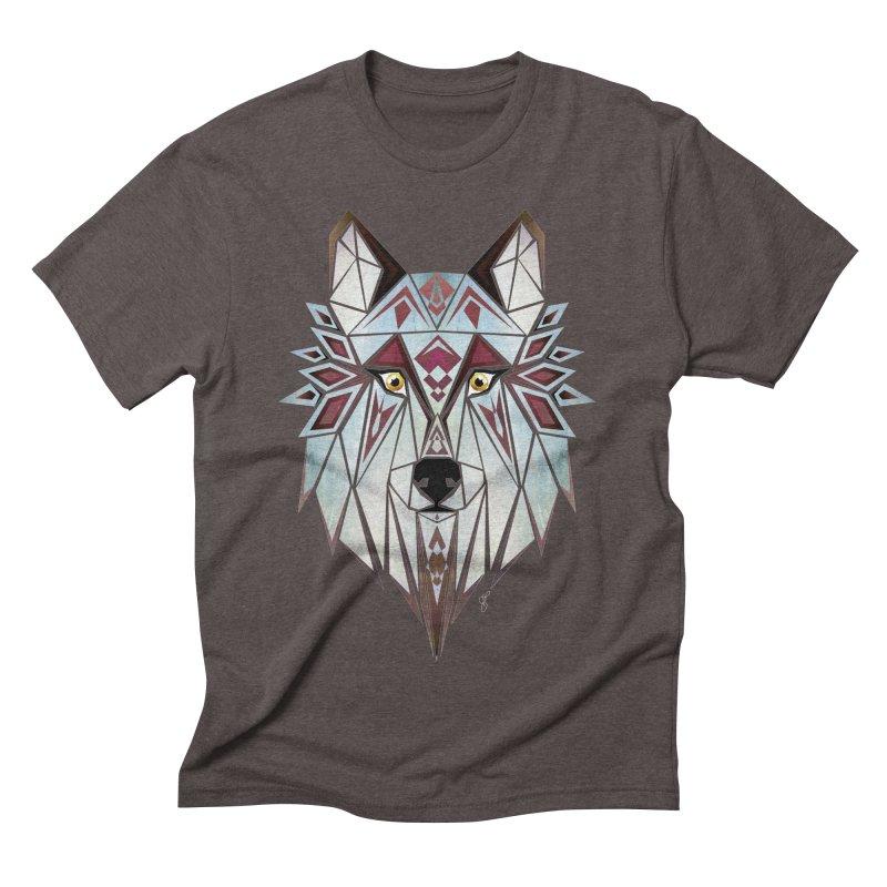 Wild wolf Men's Triblend T-shirt by manoou's Artist Shop