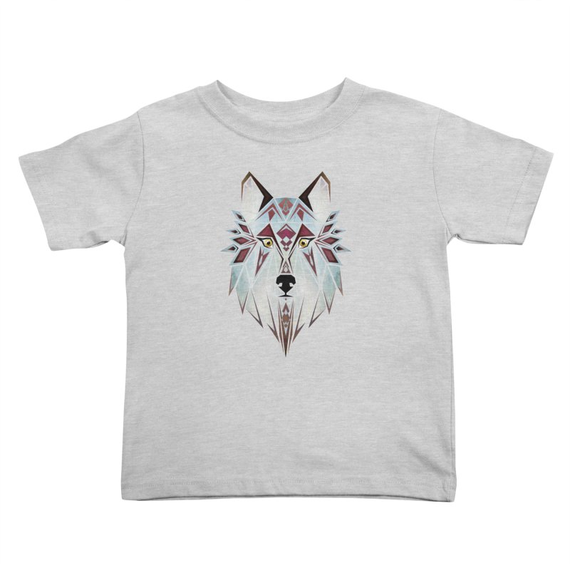 Wild wolf Kids Toddler T-Shirt by manoou's Artist Shop