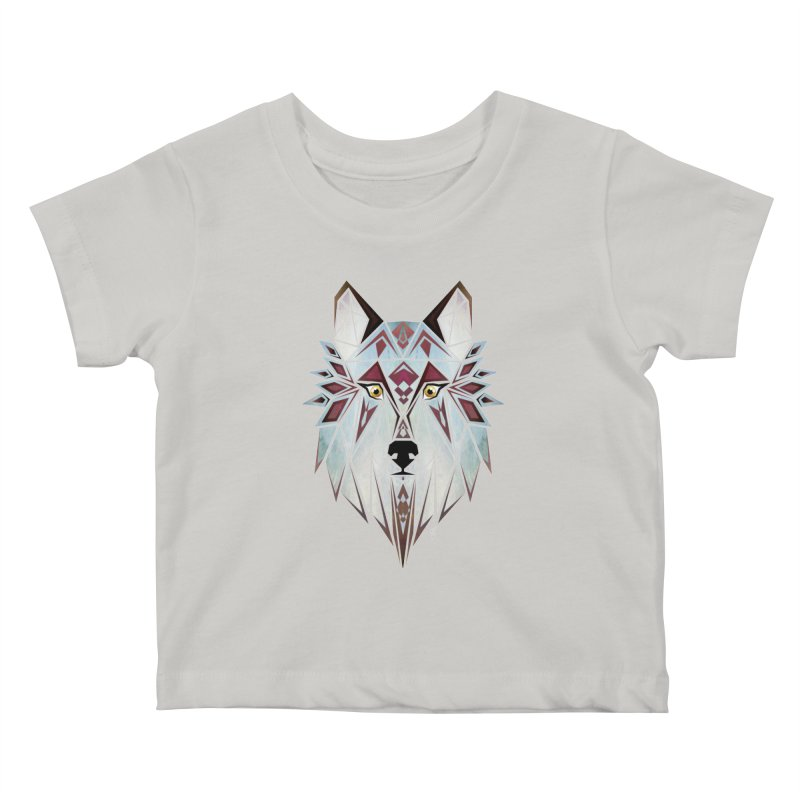 Wild wolf Kids Baby T-Shirt by manoou's Artist Shop