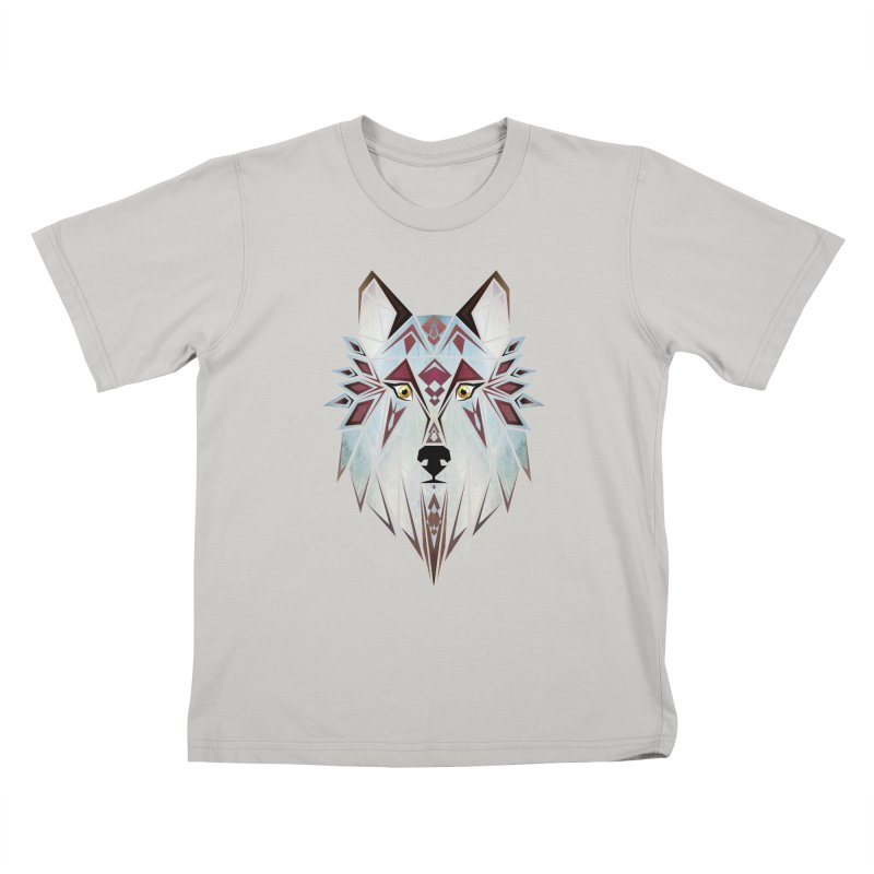 Wild wolf Kids T-Shirt by manoou's Artist Shop