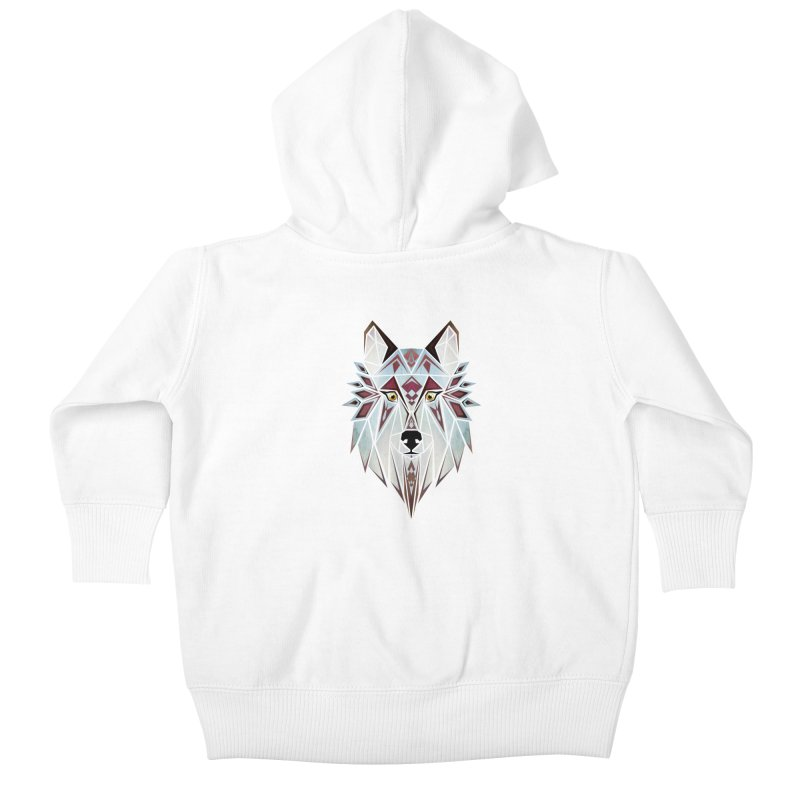 Wild wolf Kids Baby Zip-Up Hoody by manoou's Artist Shop