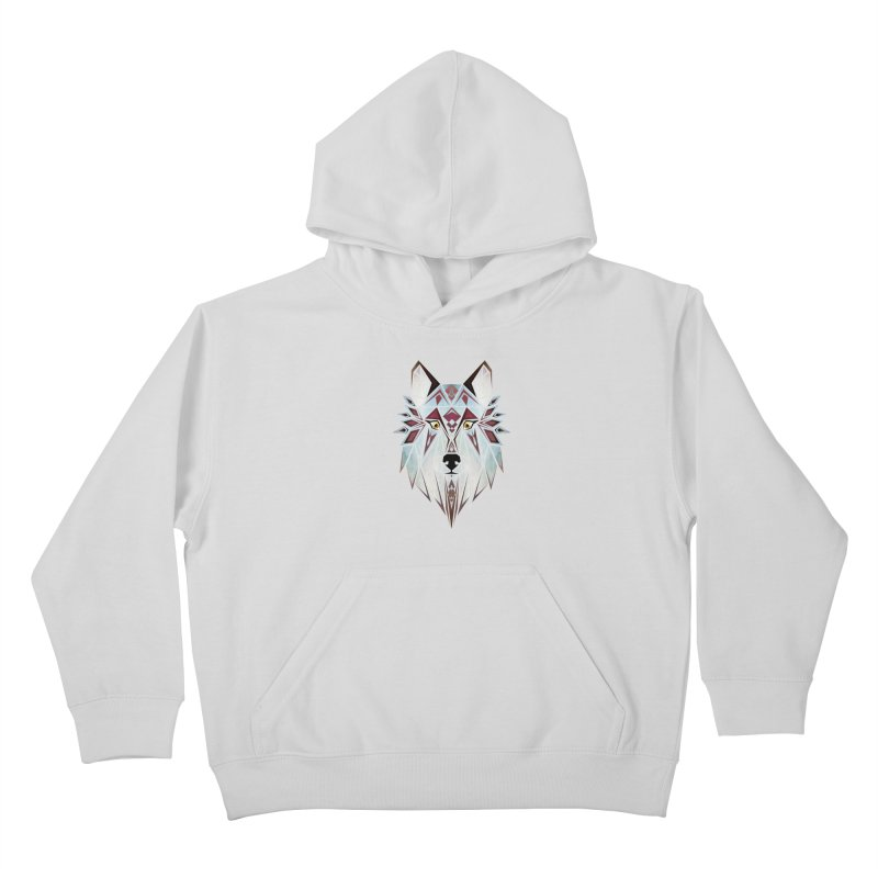 Wild wolf Kids Pullover Hoody by manoou's Artist Shop